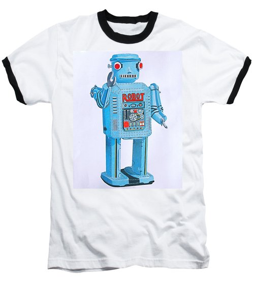 Wind-up Robot Baseball T-Shirt