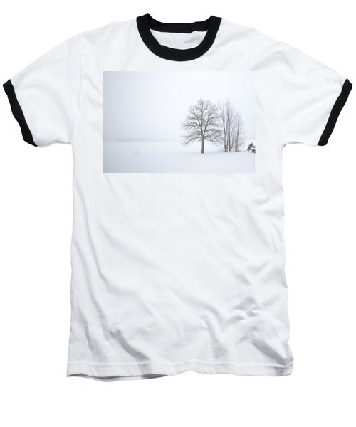 Winter Fog And Trees Baseball T-Shirt