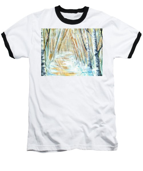 Baseball T-Shirt featuring the painting Winter by Shana Rowe Jackson