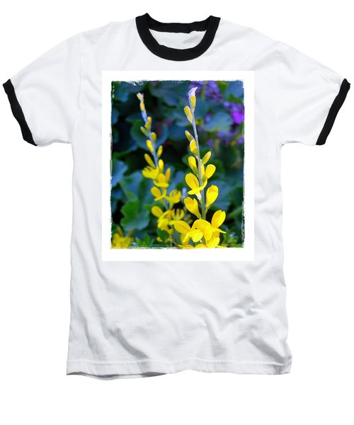 Baseball T-Shirt featuring the photograph Yellow Plumes by Judi Bagwell