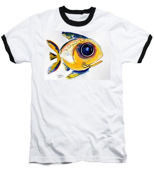 Yellow Study Fish Baseball T-Shirt