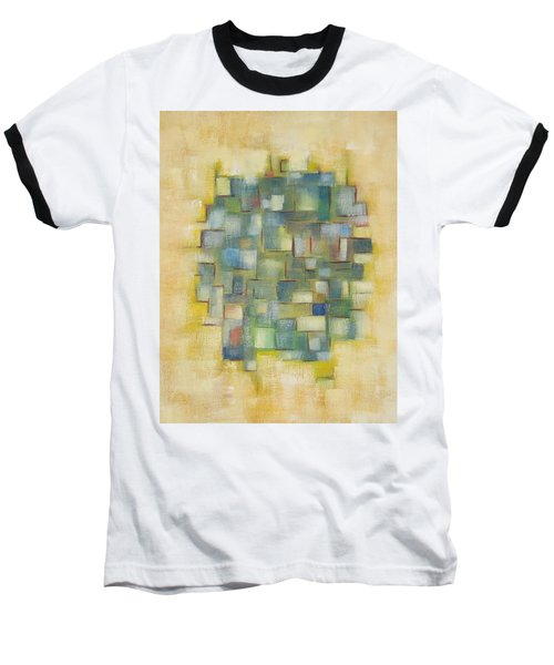 Yellow With Green  Baseball T-Shirt by Patricia Cleasby