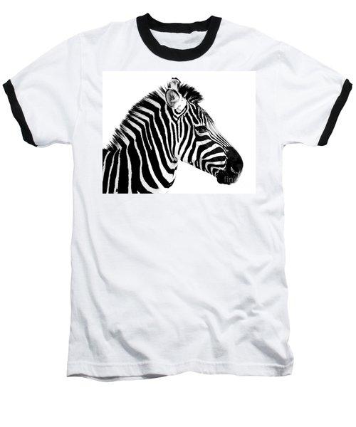 Baseball T-Shirt featuring the photograph Zebra by Rebecca Margraf
