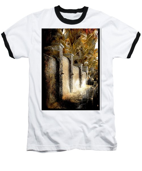 Baseball T-Shirt featuring the photograph   Flowing Waterfall  by Athala Carole Bruckner