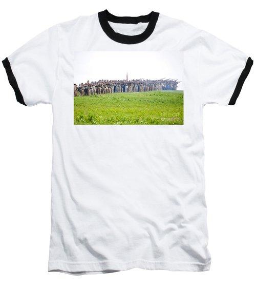 Gettysburg Confederate Infantry 0157c Baseball T-Shirt
