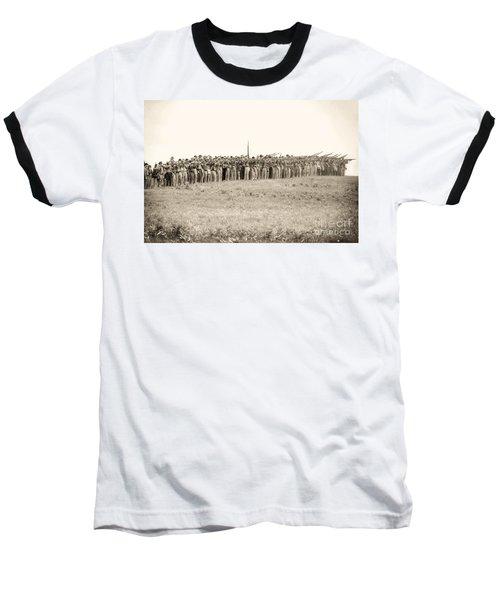 Gettysburg Confederate Infantry 0157s Baseball T-Shirt