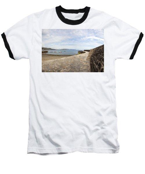 Harbour Wall Lyme Bay Dorset Baseball T-Shirt