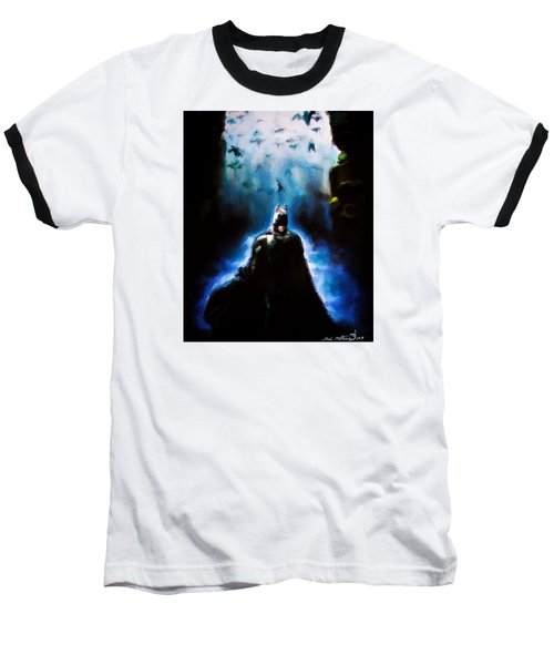 Baseball T-Shirt featuring the painting  Into The Cave by Darryl Matthews