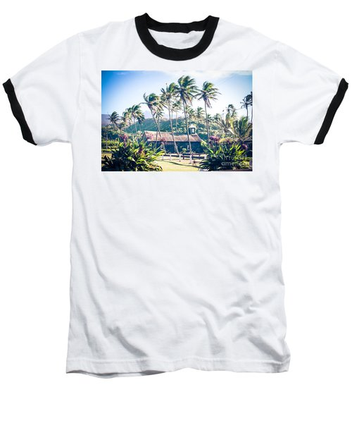 Baseball T-Shirt featuring the photograph  Lanakila 'ihi'ihi O Iehowa O Na Kaua Church Keanae Maui Hawaii by Sharon Mau