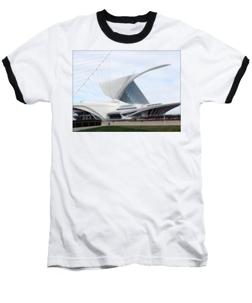 Baseball T-Shirt featuring the photograph  Milwaukee Art Museum by Kay Novy