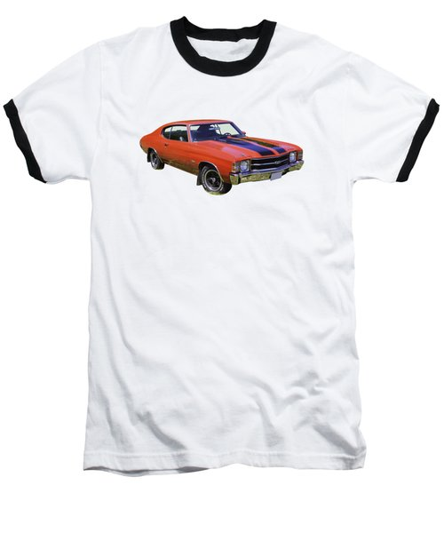 Red 1971 Chevrolet Chevelle Ss Baseball T-Shirt