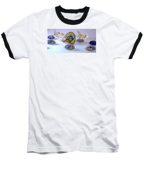 Rhapsody In Blue Baseball T-Shirt by Mikhail Savchenko