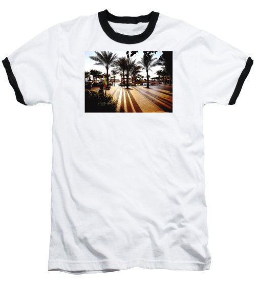 Baseball T-Shirt featuring the photograph  Silhouettes by Marwan Khoury