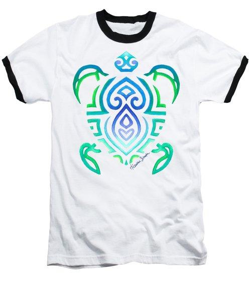 Tribal Turtle Baseball T-Shirt