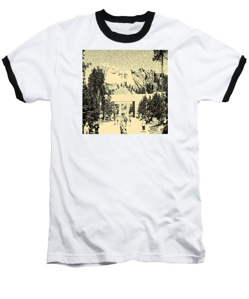 04252015 Mount Rush More Baseball T-Shirt by Garland Oldham