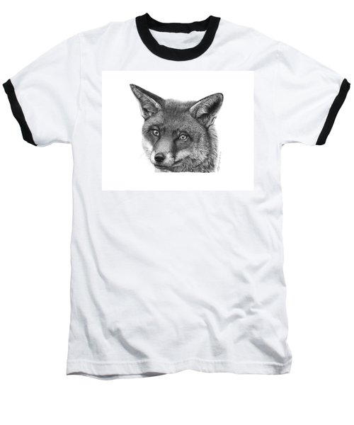 Baseball T-Shirt featuring the drawing 044 Vixie The Fox by Abbey Noelle