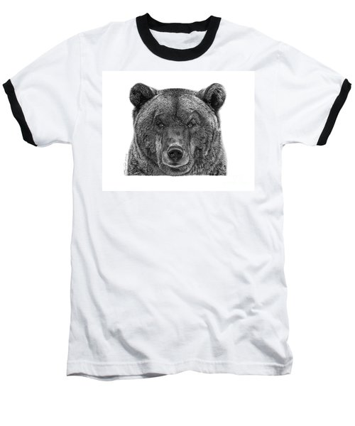 Baseball T-Shirt featuring the drawing 045 Papa Bear by Abbey Noelle