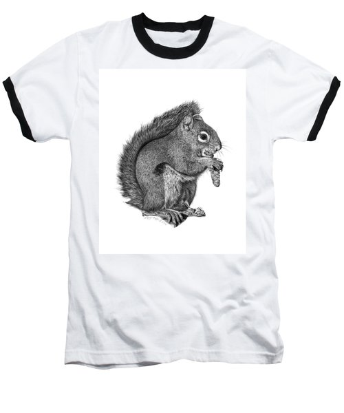 058 Sweeney The Squirrel Baseball T-Shirt by Abbey Noelle