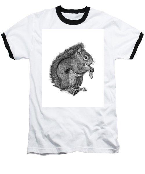 058 Sweeney The Squirrel Baseball T-Shirt
