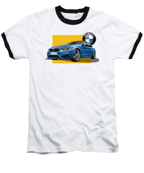 2016  B M W  M 3  Sedan With 3 D Badge  Baseball T-Shirt
