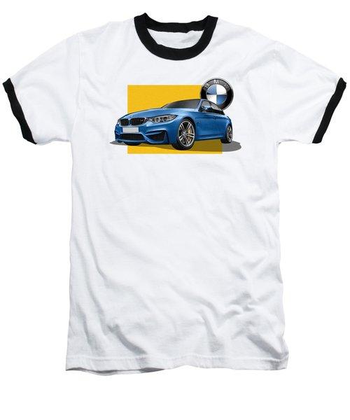 2016  B M W  M 3  Sedan With 3 D Badge  Baseball T-Shirt