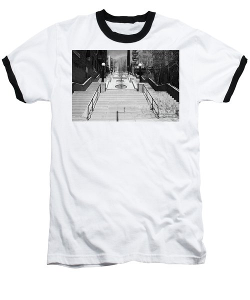 215th Street Stairs Baseball T-Shirt