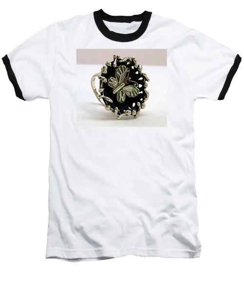Acrea Viola Baseball T-Shirt by Mikhail Savchenko