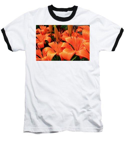 All Consuming Orange Baseball T-Shirt