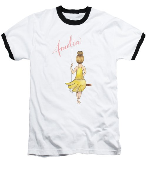 Amelia No Background Baseball T-Shirt
