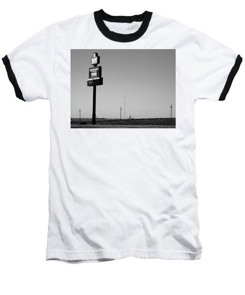 Baseball T-Shirt featuring the photograph American Interstate - Kansas I-70 Bw 4 by Frank Romeo