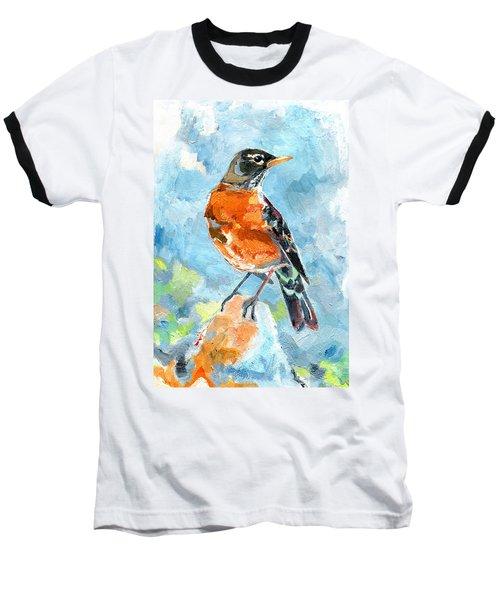 American Robin Baseball T-Shirt