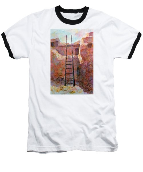 Baseball T-Shirt featuring the painting Ancient Walls by Ann Peck