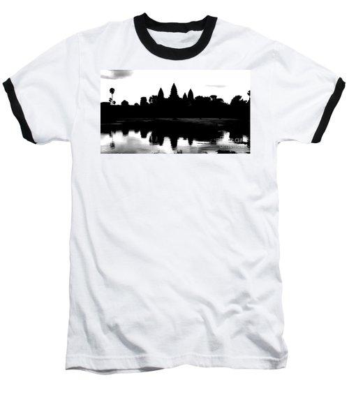 Angkor Wat Black  Baseball T-Shirt