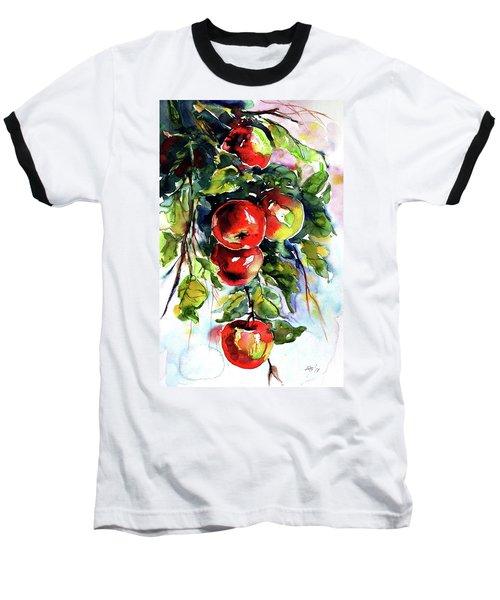 Apples Baseball T-Shirt by Kovacs Anna Brigitta