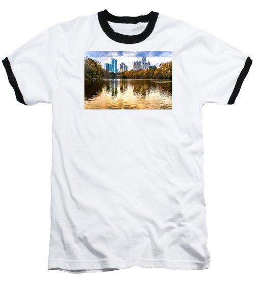 Atlanta - Usa Baseball T-Shirt by Luciano Mortula