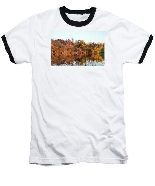 Autumn Reflections Baseball T-Shirt by Nikki McInnes