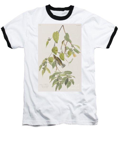 Autumnal Warbler Baseball T-Shirt by John James Audubon
