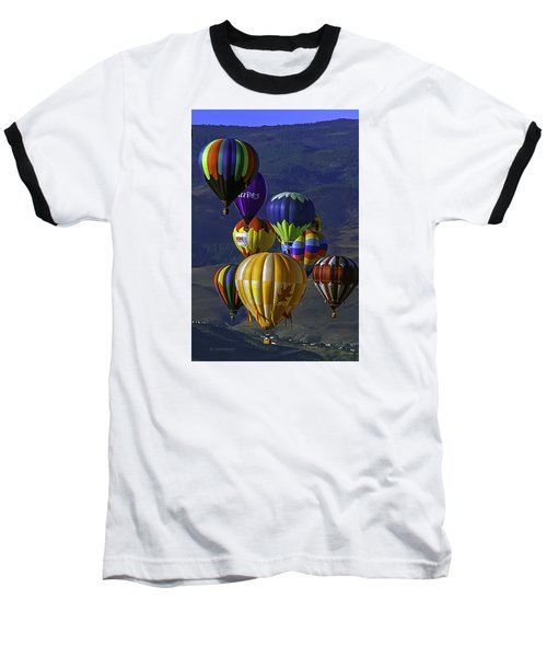 Balloons Over Reno Baseball T-Shirt