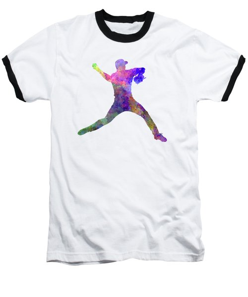 Baseball Player Throwing A Ball Baseball T-Shirt by Pablo Romero