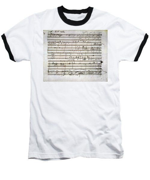 Beethoven Manuscript Baseball T-Shirt