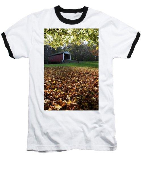 Billy Creek Bridge Baseball T-Shirt by Joanne Coyle