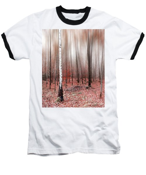 Baseball T-Shirt featuring the photograph Birchforest In Fall by Hannes Cmarits