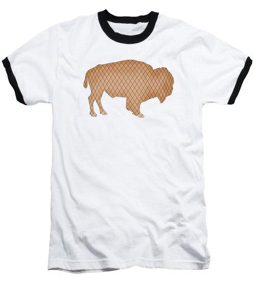 Bison Baseball T-Shirt by Mordax Furittus