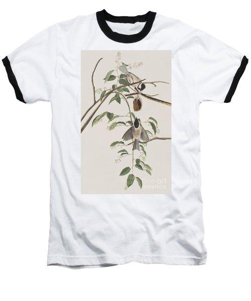 Black Capped Titmouse Baseball T-Shirt