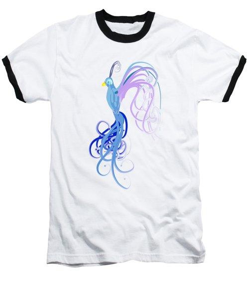Blu Baseball T-Shirt by Diq