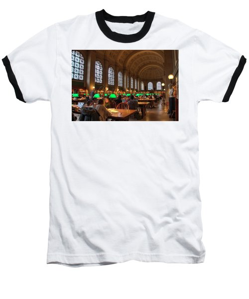 Baseball T-Shirt featuring the photograph Boston Public Library by Joann Vitali