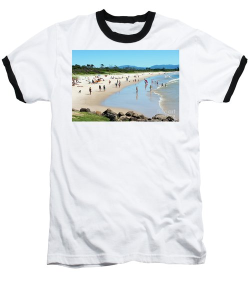 Byron Bay Main Beach Baseball T-Shirt