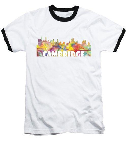 Cambridge England Skyline Baseball T-Shirt