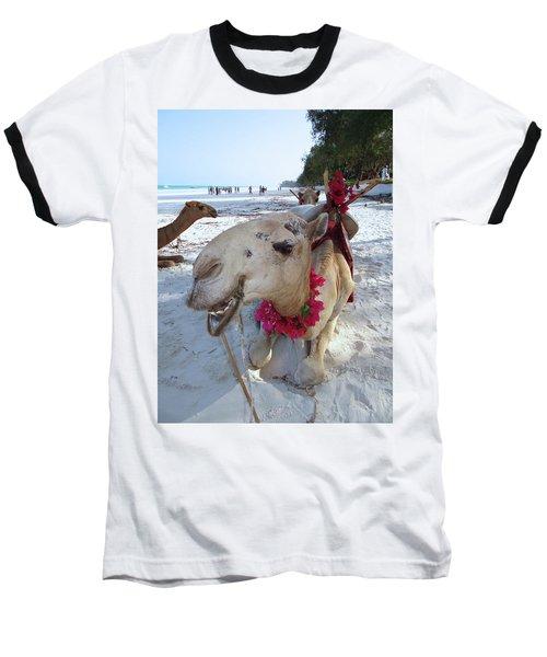 Camel On Beach Kenya Wedding3 Baseball T-Shirt by Exploramum Exploramum