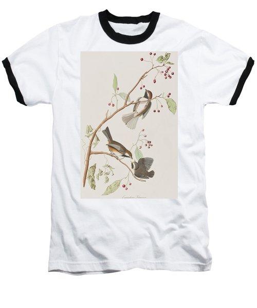Canadian Titmouse Baseball T-Shirt